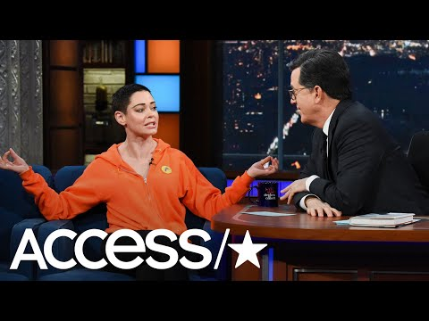 Rose McGowan Reacts To Criticism For Her Colbert Interview: 'I Don't Follow Protocol' | Access