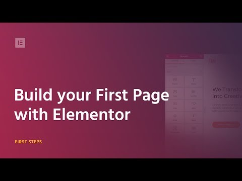 Build your First Page with Elementor Page Builder for WordPress