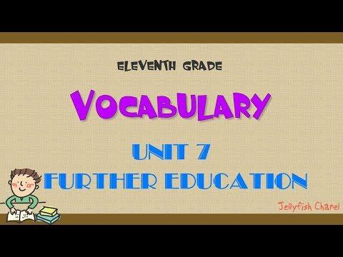 Từ vựng tiếng Anh lớp 11 - Unit 7 Further education - Chương trình mới