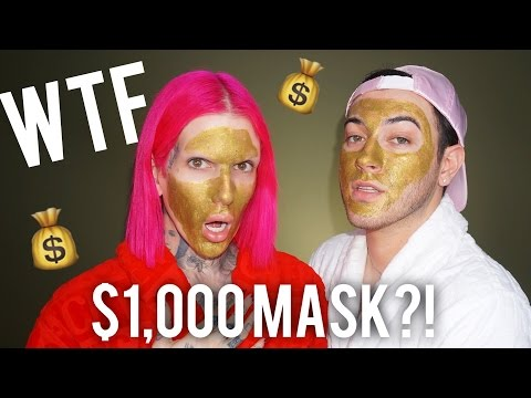 Thumbnail: $1,000 MAGNETIC GOLD FACE MASK! REVIEW + DEMO feat. JEFFREE STAR