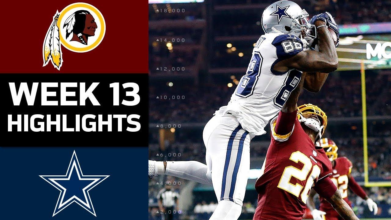 innovative design ab7a1 3d432 Redskins vs. Cowboys | NFL Week 13 Game Highlights