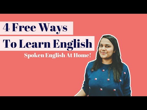 4 FREE Ways To Learn English At Home! How To Learn English For Free?How To Improve English Speaking?