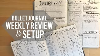 Our Bullet Journals: Weekly Review and Setup