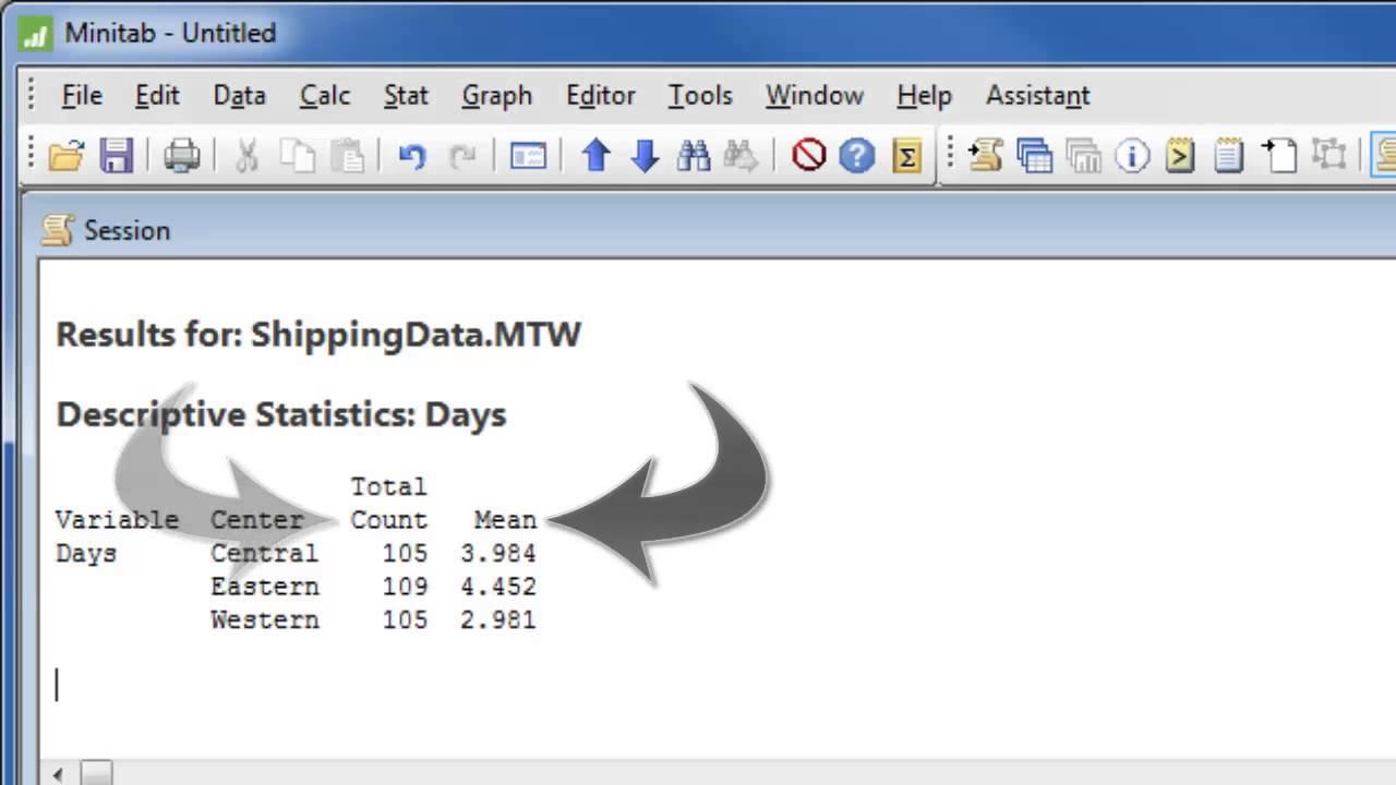 how to analyze data with minitab 17 youtube