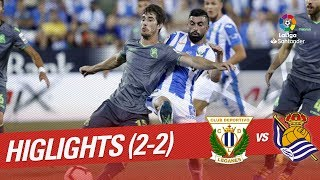 Resumen de CD Leganés vs Real Sociedad (2-2)