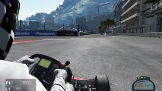 Project CARS - 125CC Kart in Monaco fast and furious (Racing)