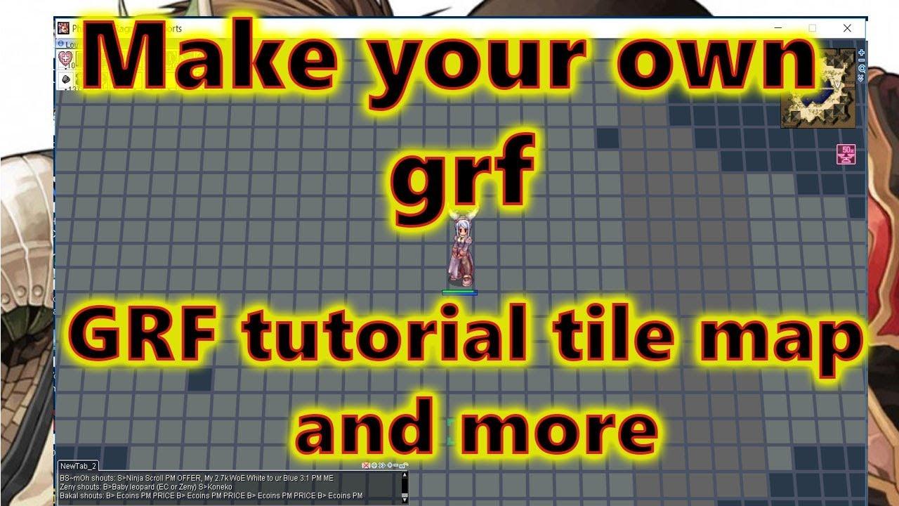 Ragnarok Online GRF Tutorial |Graymap|Giant card|Giant kafra|Chibi and more