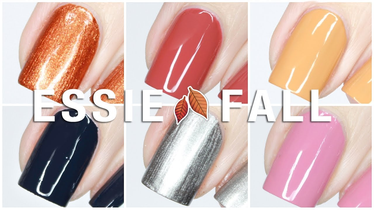 Essie Fall For Nyc Fall 2018 Collection Live Swatches Review Youtube