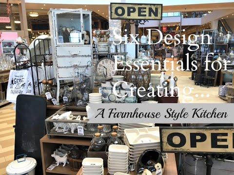 Six Design Essentials:Farmhouse Style Kitchen
