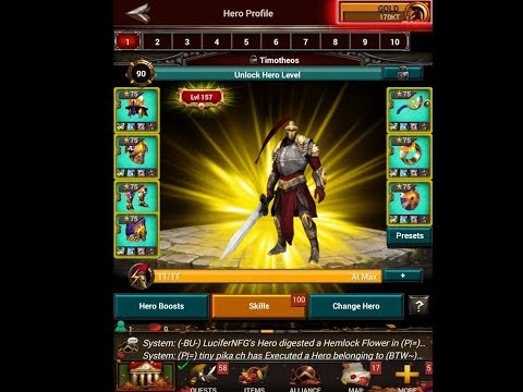 Game Of War: Update on Gear +Gem +Rune +Creatures Setup against Rams - HAPPY NEW YEAR 2018