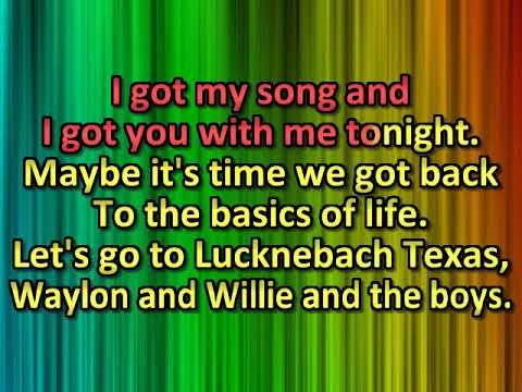 Waylon Jennings & Willie Nelson   LUCKENBACH, TEXAS [karaoke]