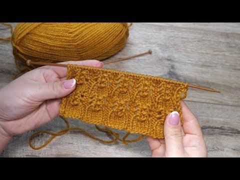 ажурный узор спицами рюши Openwork Knitting Pattern Ajurlu
