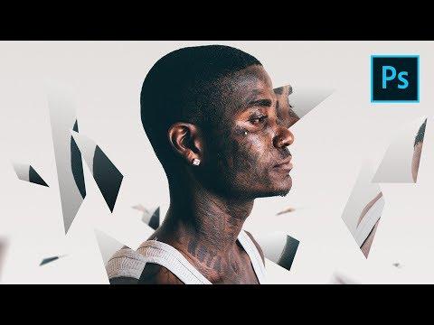 NEU Photoshop CC 2019 Tutorial - 3D Spiegel Fragmente Effekt [deutsch] [2019] thumbnail