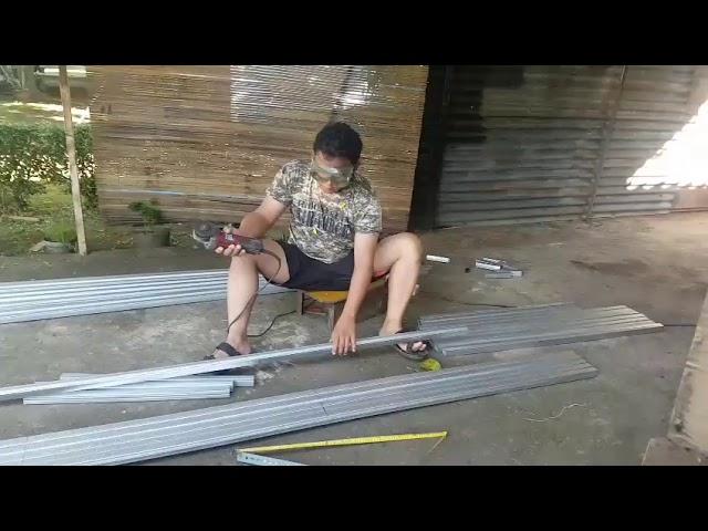Membuat kandang umbaran murai batu praktis dari holo baja ringan