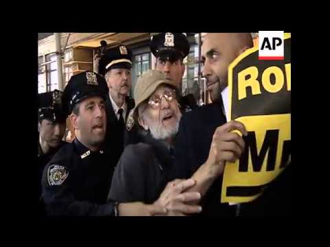 Occupy Wall Street activists targeted a Mitt Romney fundraiser at a luxury Manhattan hotel on Wednes