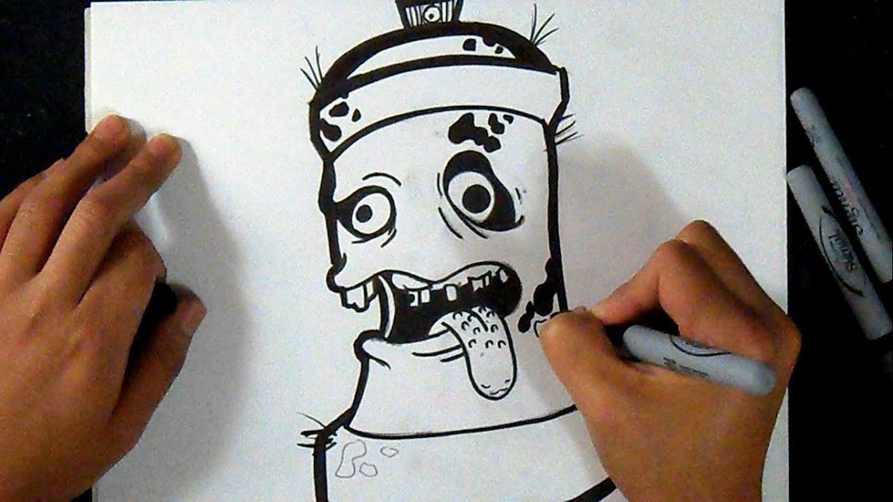 Cómo dibujar Lata de spray (Zombie)
