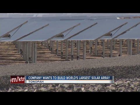 Company wants to build huge solar array in Nevada desert