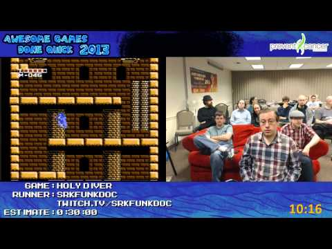 Holy Diver Speed Run (0:24:39) by Funkdoc (Live at Awesome Games Done Quick 2013) [NES]