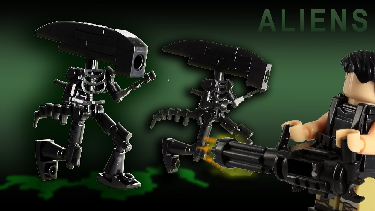 Lego Aliens Xenomorph Custom Build Free Instructions Youtube