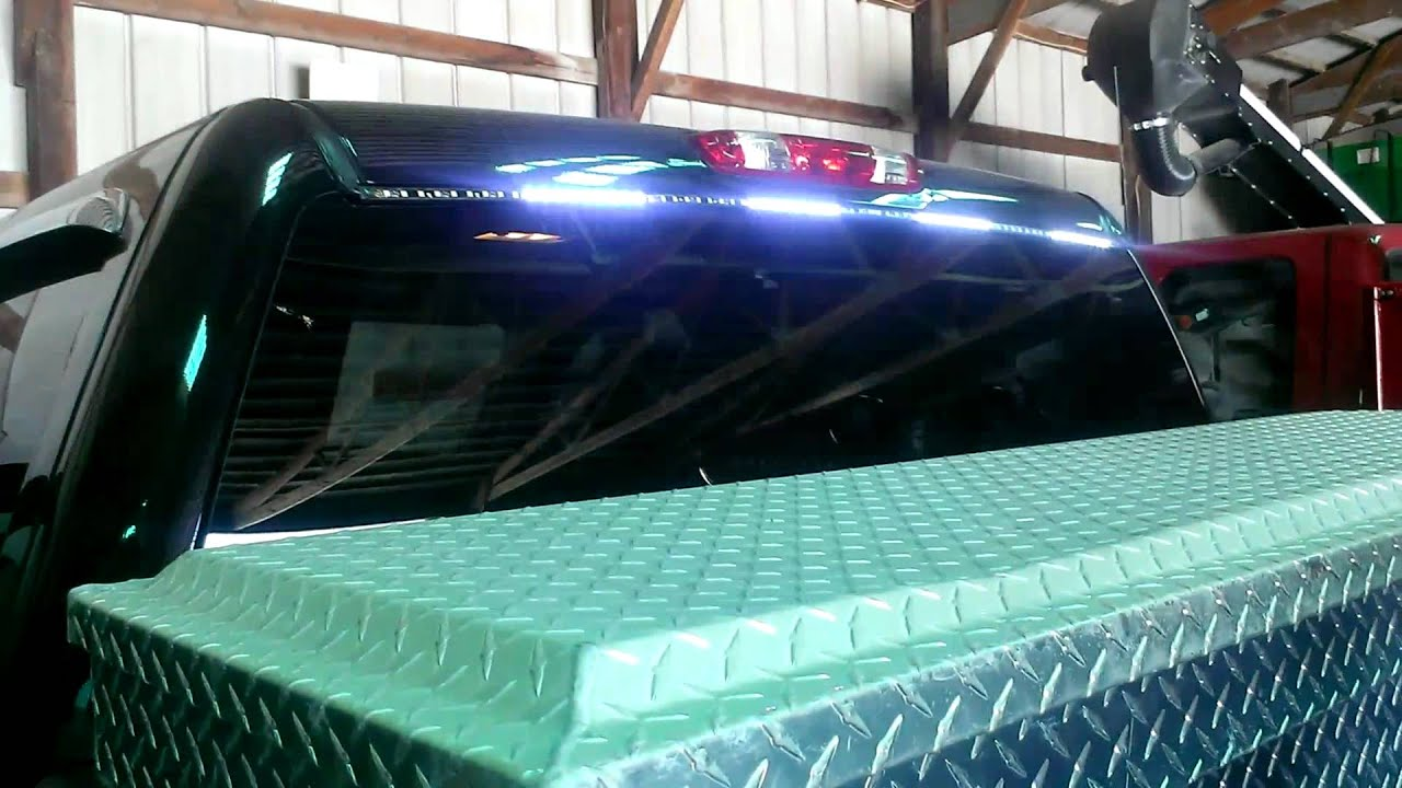 Green Jeep Wrangler >> FIREWIRE LED BACK WINDOW STROBE KIT - YouTube