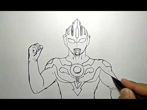 Cara Menggambar Ultaman Baru Dengan Mudah How To Draw Ultraman