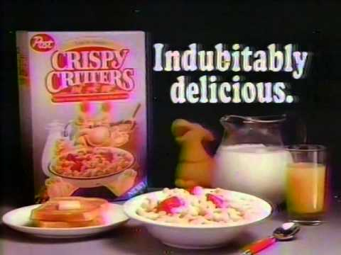 80's Ads: Post Crispy Critters Cereal 1988