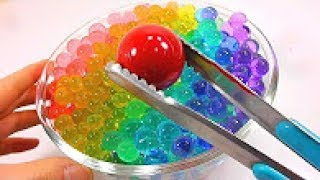1000 Degree Ball VS Orbeez DIY Learn Colors Slime Glitter Toys