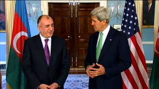 Secretary Kerry Delivers Remarks With Azerbaijani Foreign Minister Mammadyarov