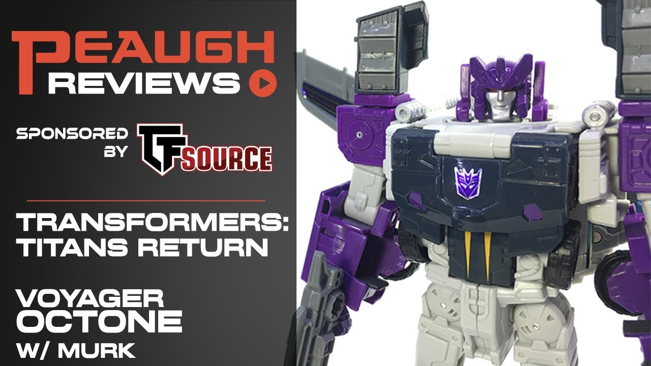 Hasbro Transformers Titans Return Voyager Class Murk /& Decepticon Octone