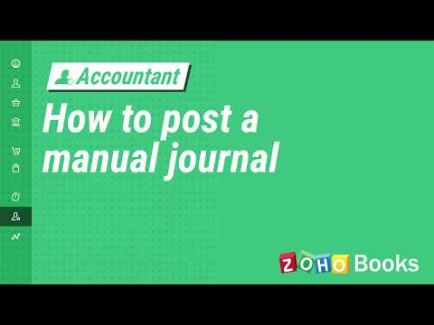 Manual Journals | Help | Zoho Books