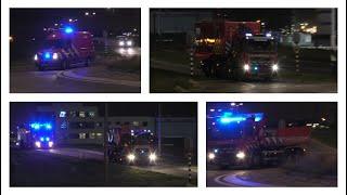 Hulpdiensten rukken massaal uit voor zeer grote brand in Hoek van Holland!