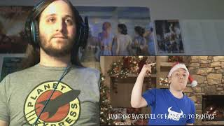 Dan Bull - Santa Rap Uncut - Jacksfilms Royalty Free Christmas Songs 4 (Reaction)