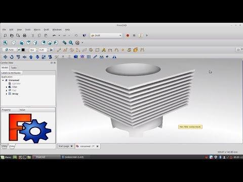 FreeCAD Retraycing Workbench Tutroial [ POV - RAY] in Linux