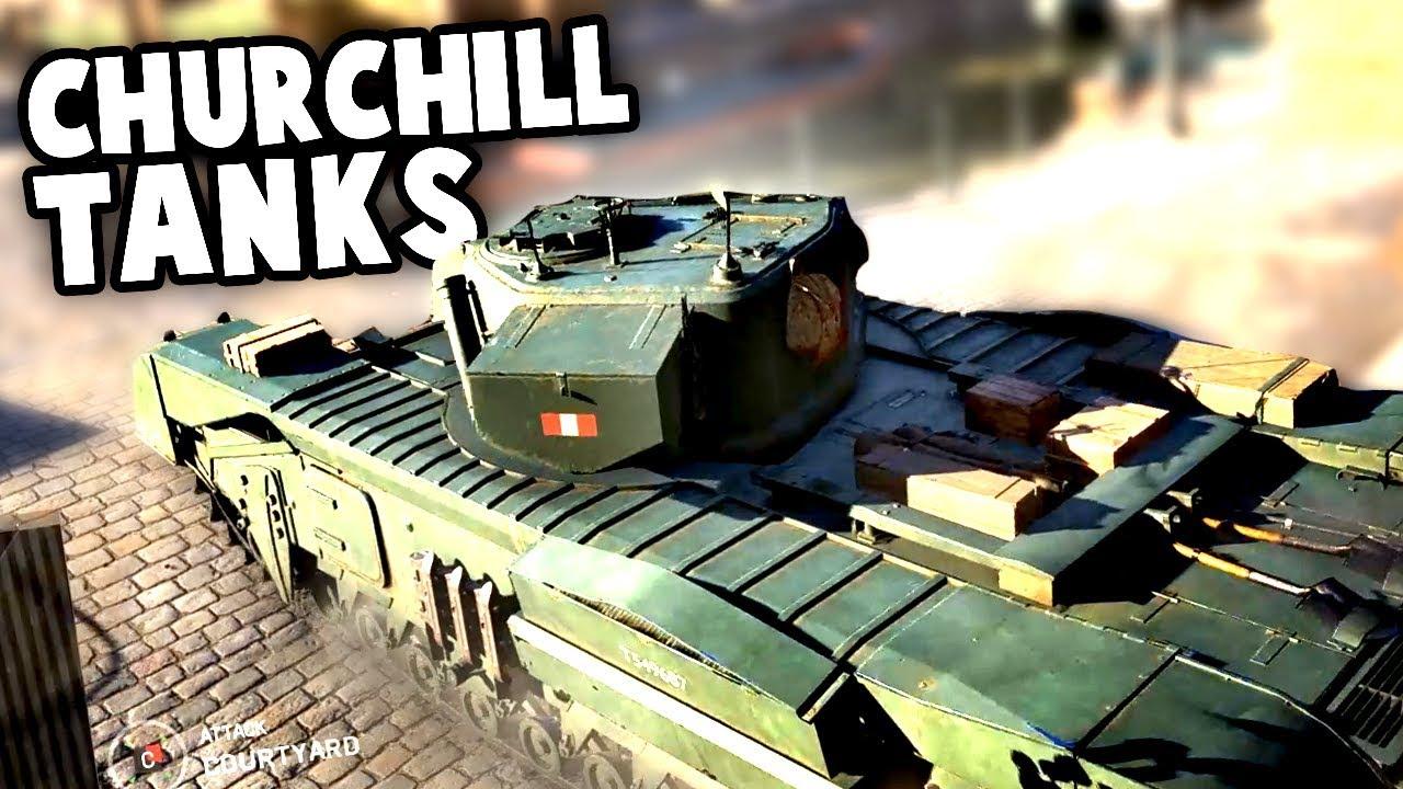 CHURCHILL CROCODILE IS AMAZING! Churchill Tanks Gameplay (Battlefield V Beta Squads)