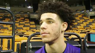 Lonzo Ball comments on LiAngelo Ball's arrest for shoplifting in China | ESPN
