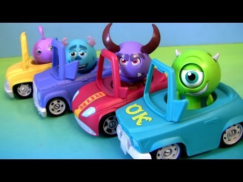 Monsters University Roll A Scare Cars Toys From Disney Pixar Monsters Inc 2 Pixar Racing Coches
