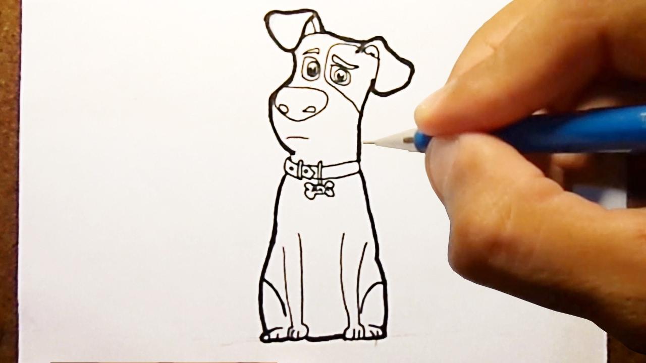 Como Desenhar MAX Pets A Vida Secreta dos Bichos, How to Draw