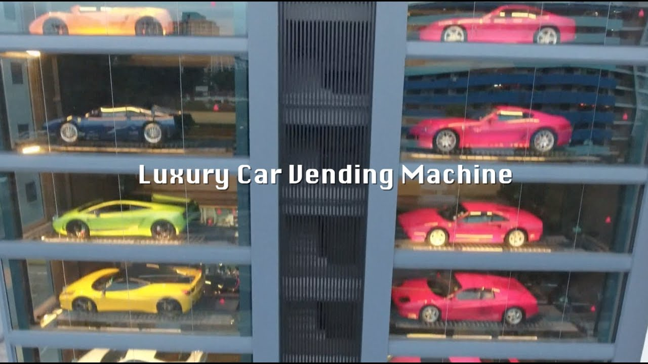 Vending Machine In Singapore Serves Up Luxury Vehicles Youtube