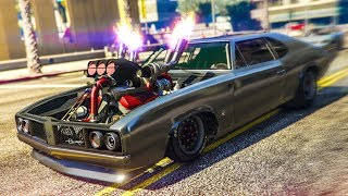 AMAZING MUSCLE CAR STUNT! - (GTA 5 Stunts & Fails)