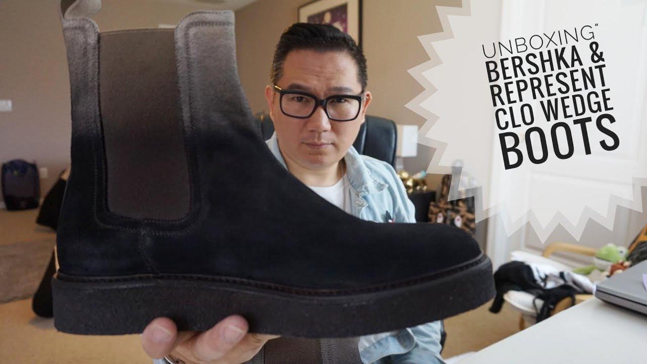 26 Unboxing Bershka Represent Clo Wedge Boots Youtube