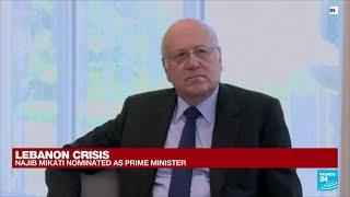 Lebanese lawmakers pick Najib Mikati as new prime minister • FRANCE 24 English