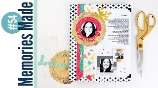 Memories Made #54: Document Scrapbooking Layout