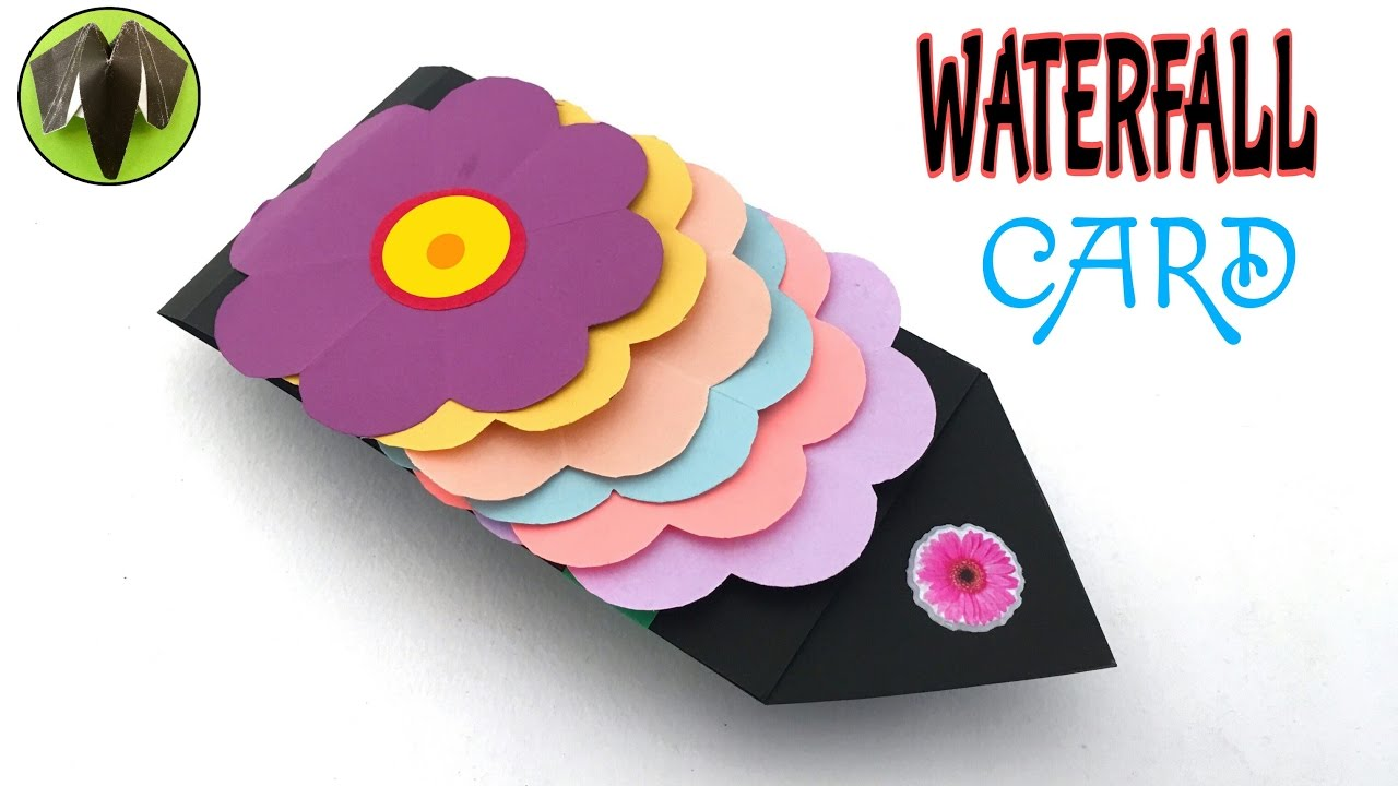 Flower Waterfall Card Tutorial From Paper Folds 688 Youtube