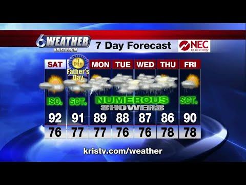 Coastal Bend weather forecast 6/15/18 6PM