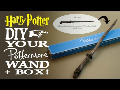 How To Make Your Pottermore Wand + Box!  Harry Potter DIY