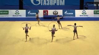 Групповые упражнения, юниоры.Болгария ,03.03.2013(Гран При по художественной гимнастике г.Москва 03.03.2013 Grand Prix of Rhythmic Gymnastics 2013 Junior group Bulgaria., 2013-03-04T11:59:29.000Z)