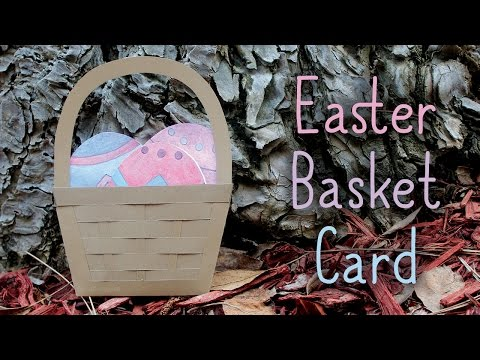 How To Make An Easter Basket Card 🐣