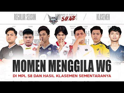 UPNEWS#33 - MOMEN MENGGILA W6! DI MPL S8 DAN HASIL KLASEMEN SEMENTARANYA