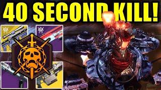 Destiny 2: KILL TANIKS in 40 SECONDS!   Deep Stone Crypt Raid Final Boss Guide