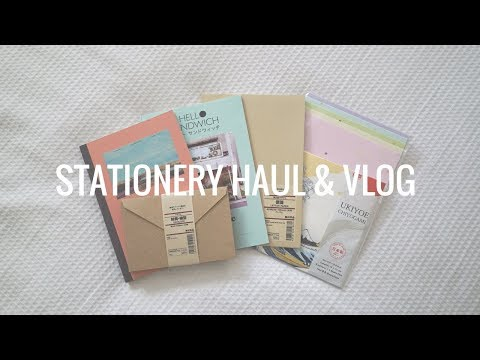 Come Stationery Shopping With Me Vlog + Haul